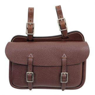 Tanami leather small square saddle bag - economy