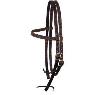 Nyla web split head bridle - brass