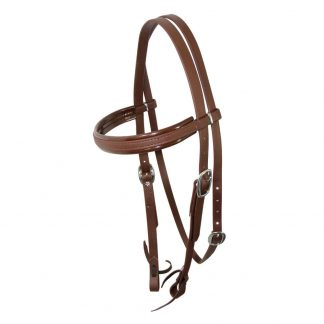 Brown Apollo PN Split Head Bridle photo - Stainless steel hardware