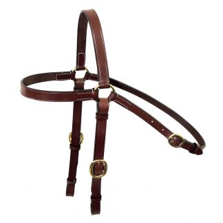 Tanami Leather Barcoo Bridle - brass