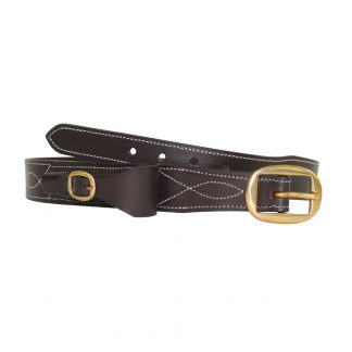 Victor leather cattleman's belt