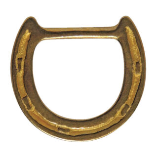 Horseshoe shaped dee ring - brass
