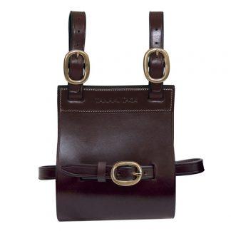 Tanami leather quart pot cover / carrier - brass