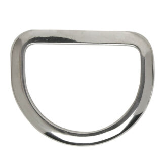 Stainless steel bevelled saddle rigging dee