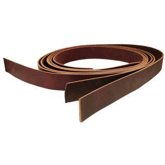 Belt leather strips