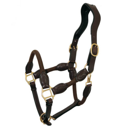 Tanami Leather/Rope Horse Halter - Brown