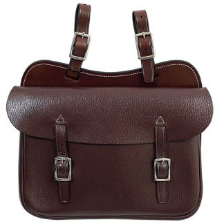 Tanami leather large square saddle bag - economy