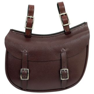 Tanami leather oval saddle bag - economy