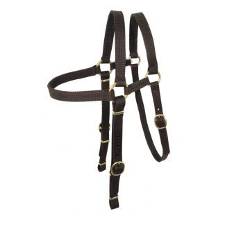 Nyla web Extended bridle head - brass