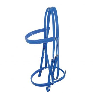 Apollo Race/Show Bridle with Cavesson - Blue