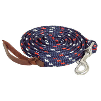 TS Pro Series Rope Lead with clip - Navy/Red/White